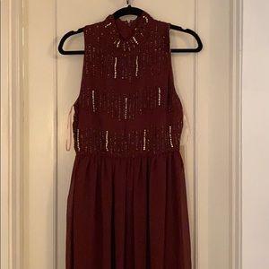 NWT!!!!! Burgundy maxi formal dress